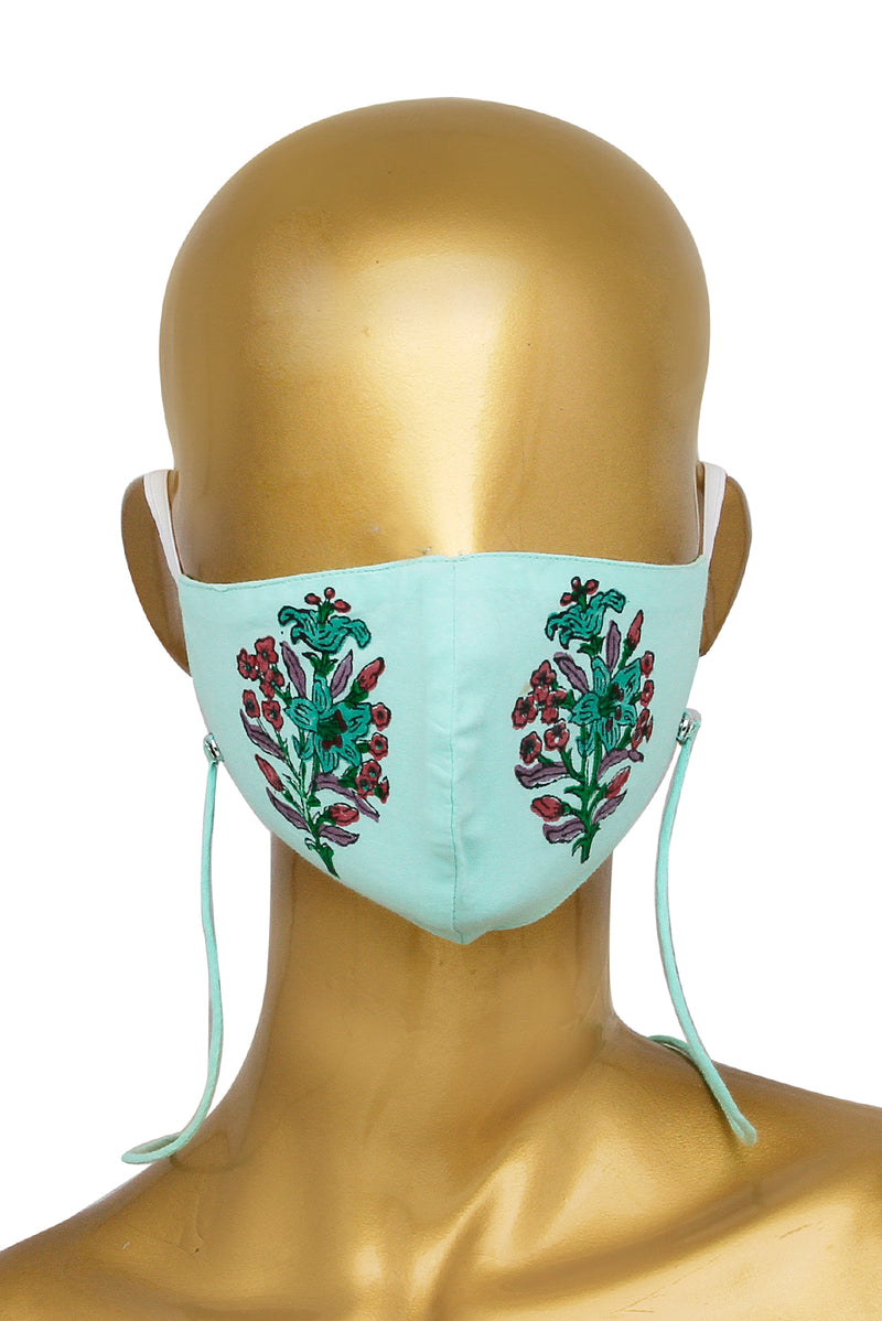 Green Face Mask - Orchid