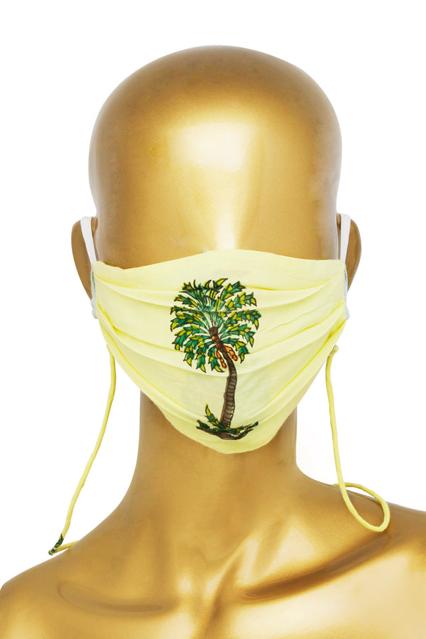 Yellow Face Mask - Coconut Tree