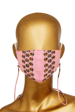Pink Face Mask - Vertical Garden Embroidered