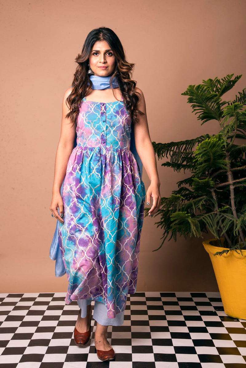 Multicolored Maxi Dress - Persian Rangoli