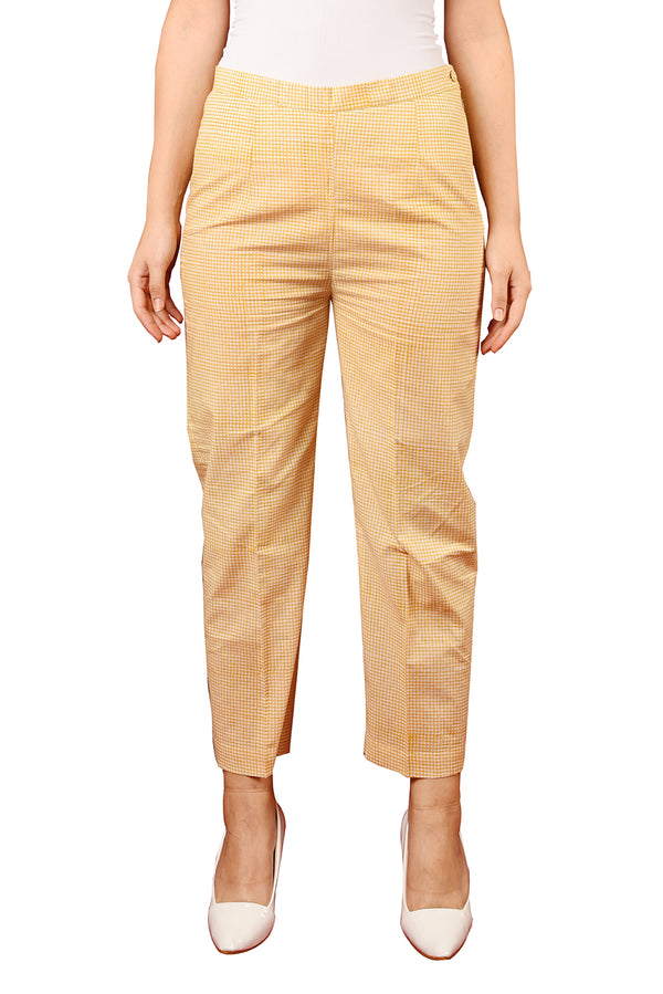Yellow Pant - Check Straight