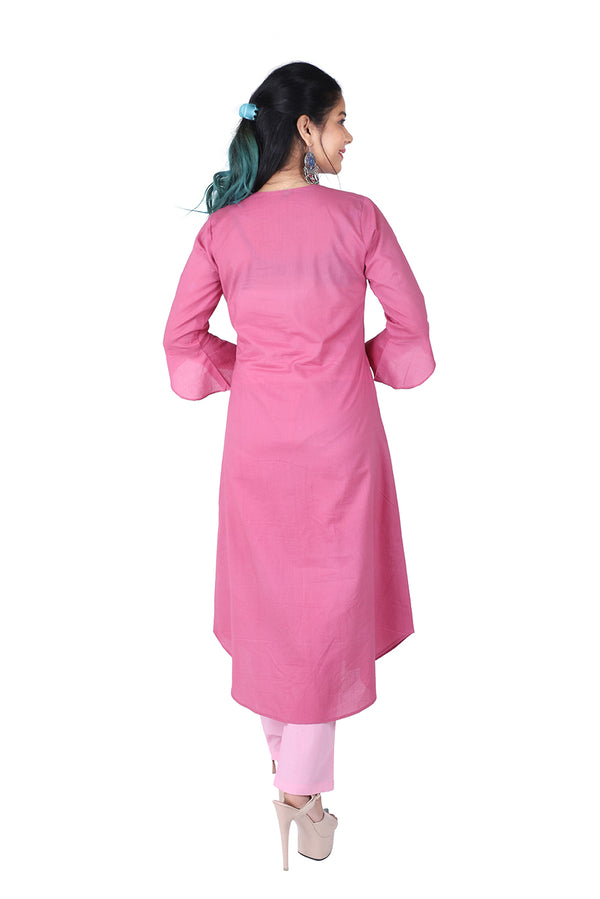 Pink A Line Ethnic Suit