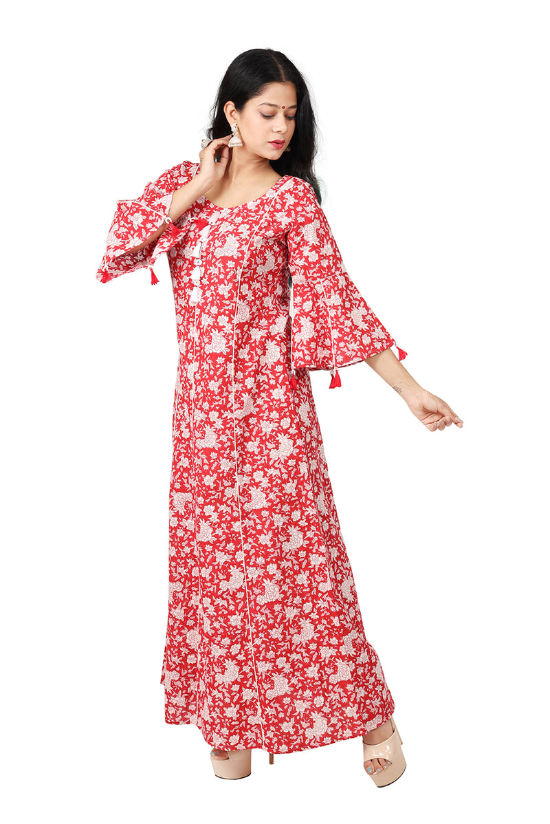 Red Maxi Dress -Tsunami