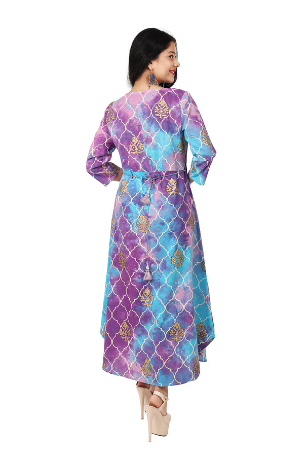 MultiColored A-Line Dress - Persian Rangoli