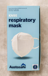 AustoSafe - AMA(SA) endorsed, SA quality tested KN95 Mask - Box 60 ($4.95 Per Mask)