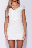 White Broderie Mini Dress