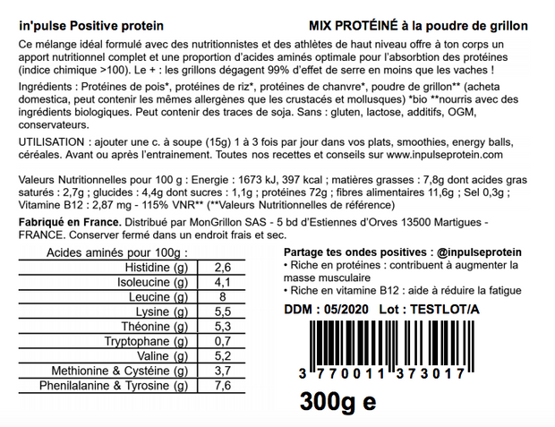 Pack InPulse™ protéines positives