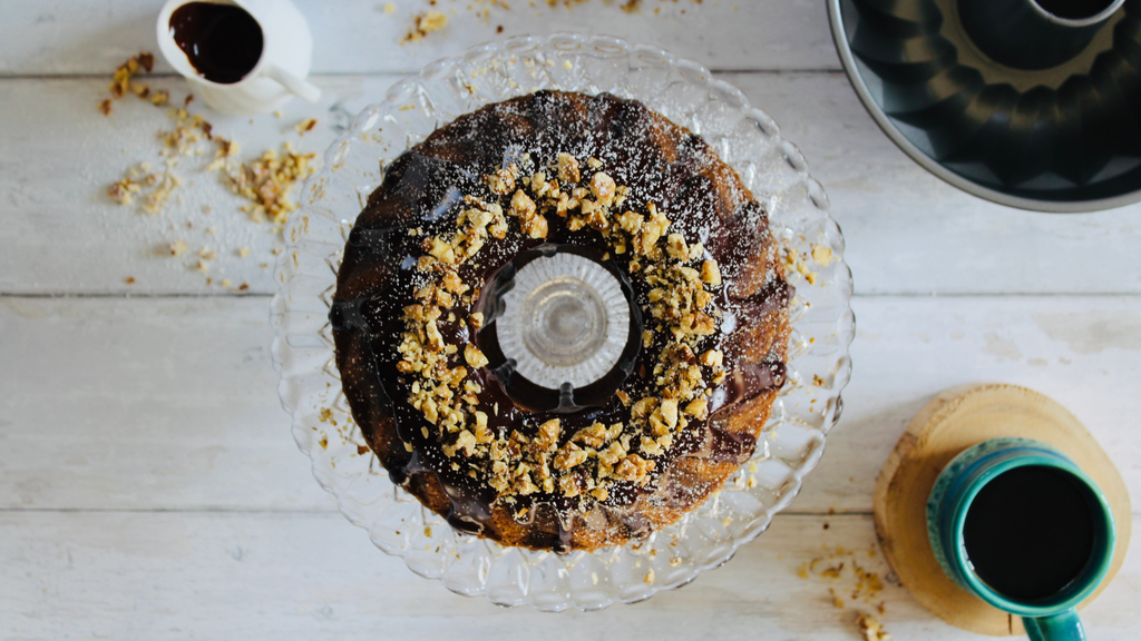 Chocolate Ganache Coffee Bundt Cake