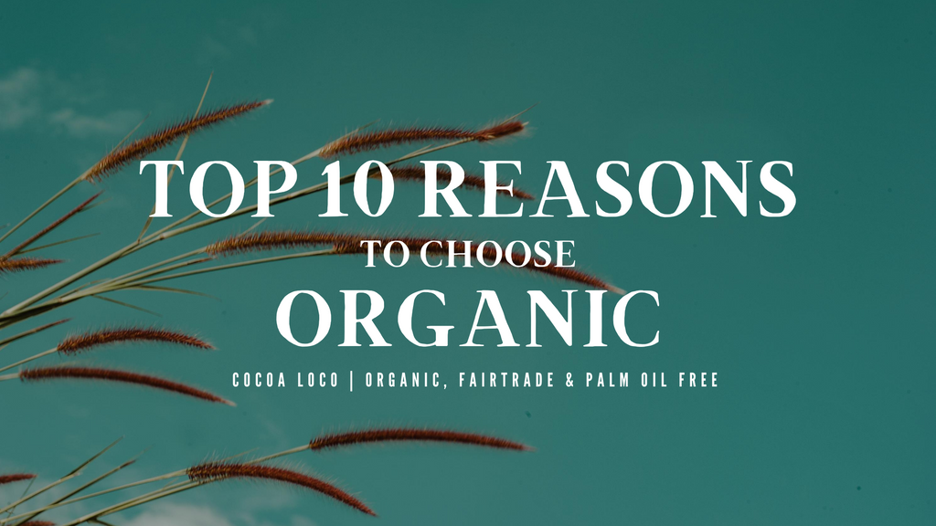 Top 10 reasons why you should choose organic!