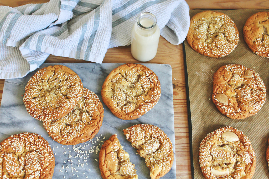 White Choc Chip Tahini Cookies