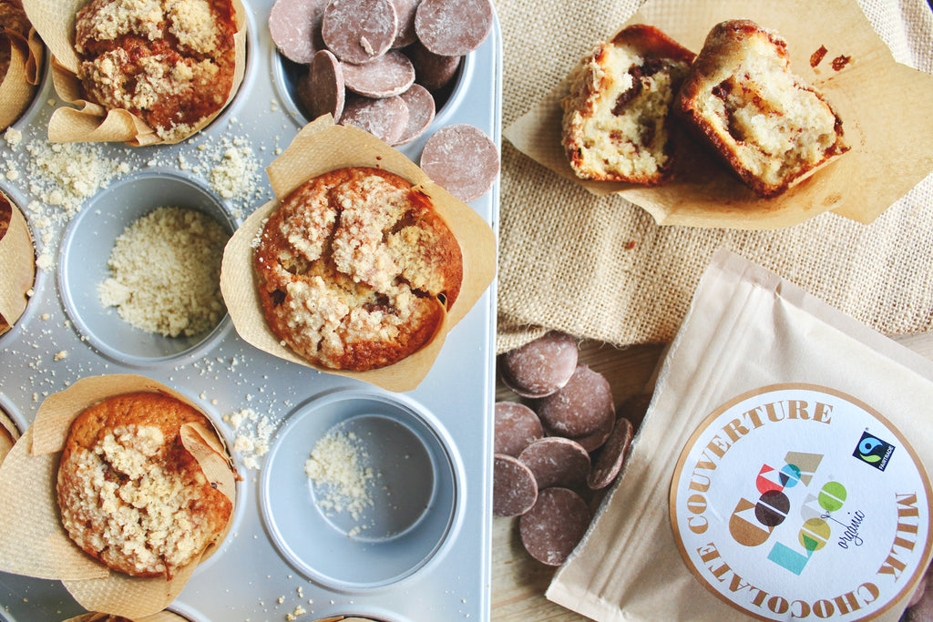 Milk Choc Chip Crumble Muffins