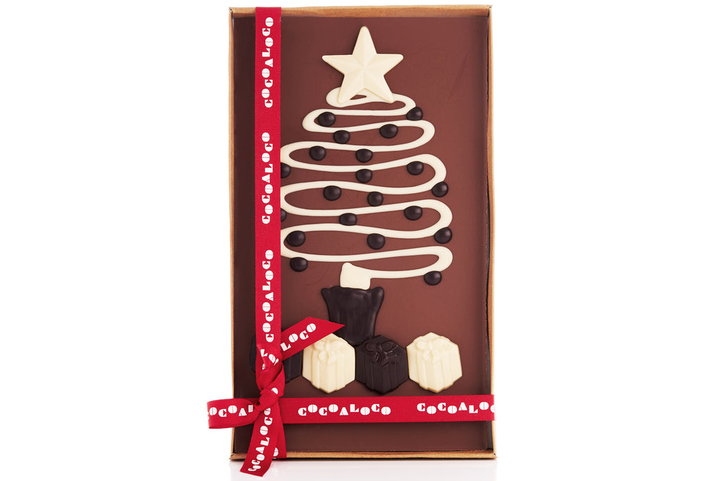 Christmas Tree 500g Milk Chocolate Slab
