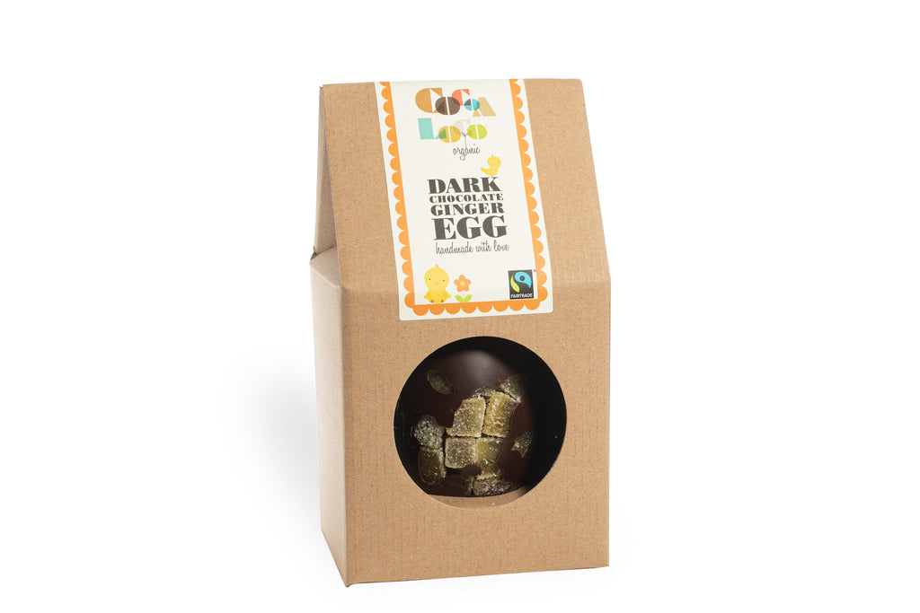 Dark Chocolate & Crystallised Ginger Easter Egg