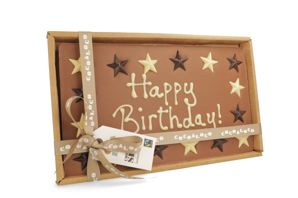 'Happy Birthday!' 500g Message Slab