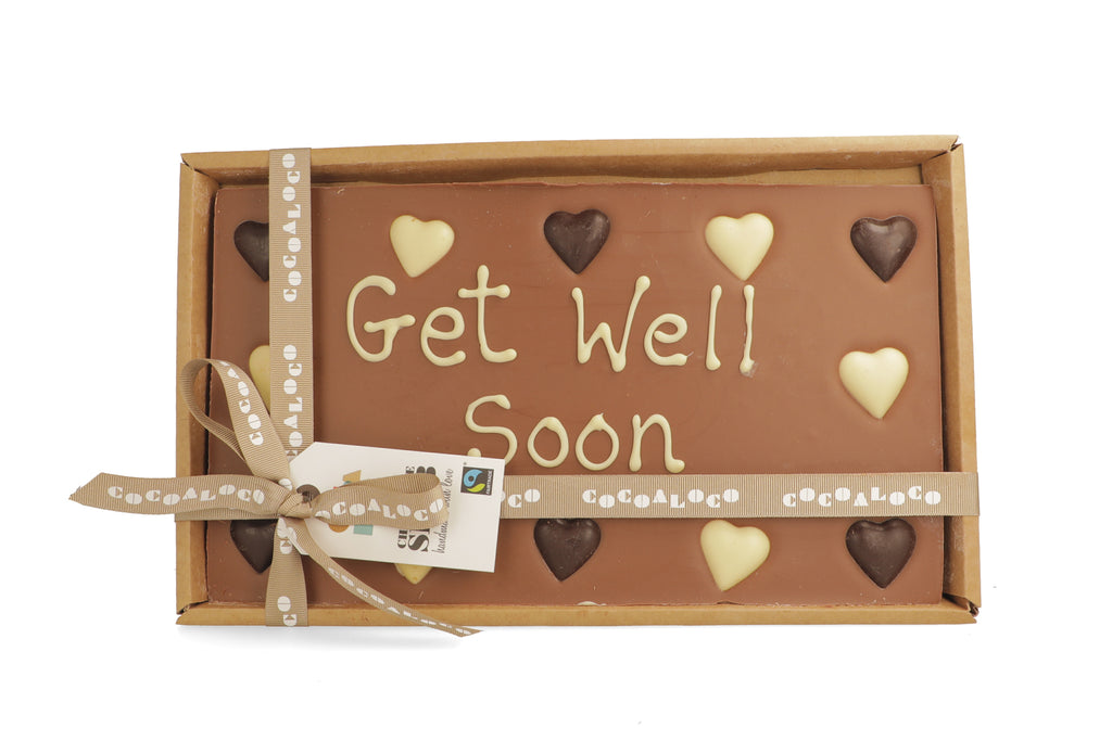 'Get Well Soon' 500g Message Slab