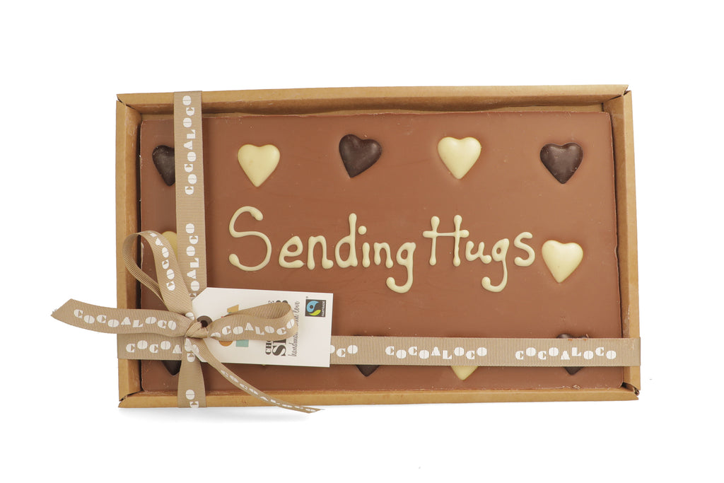 'Sending Hugs' 500g Message Slab
