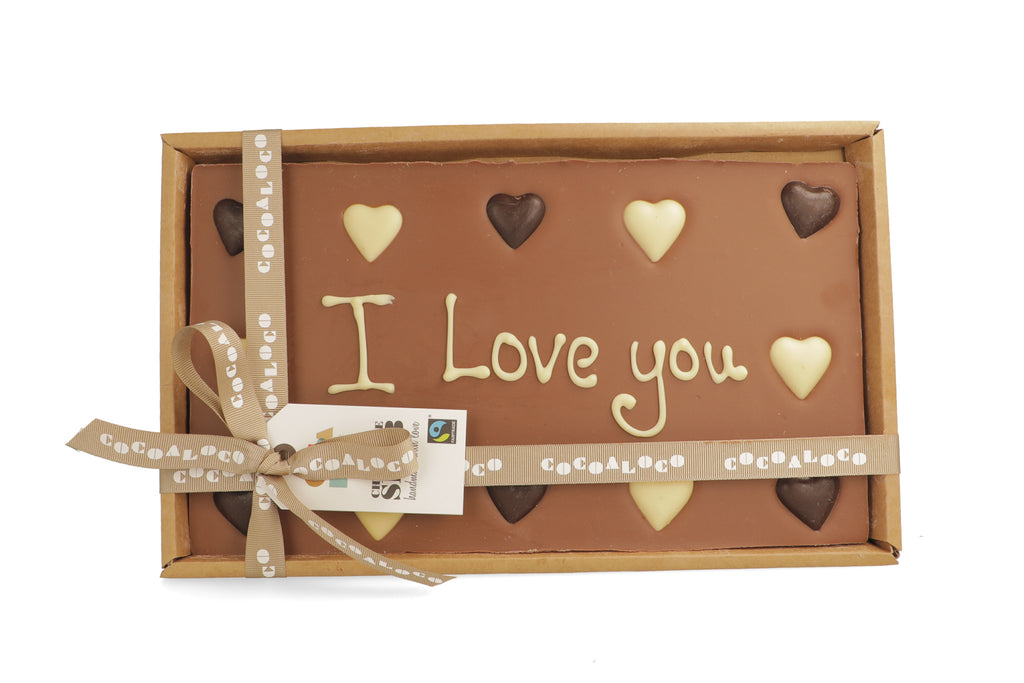 'I Love You' 500g Message Slab