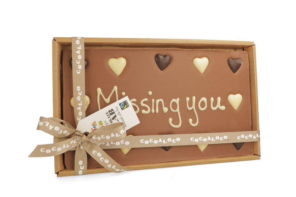 'Missing You' 500g Message Slab