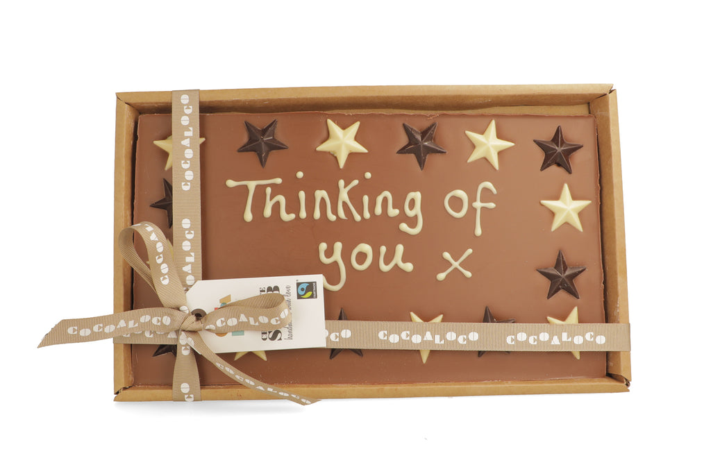 'Thinking Of You x' 500g Message Slab