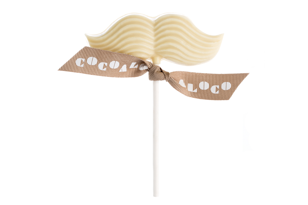 White Chocolate Moustache Lolly