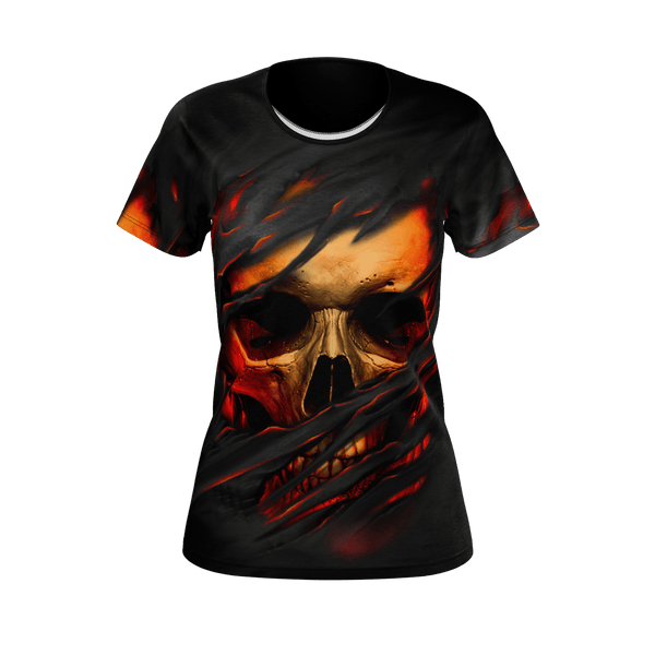 Ripped Face Skull Women's T-Shirt