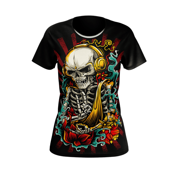 Crazy Rock Skull Women's T-Shirt