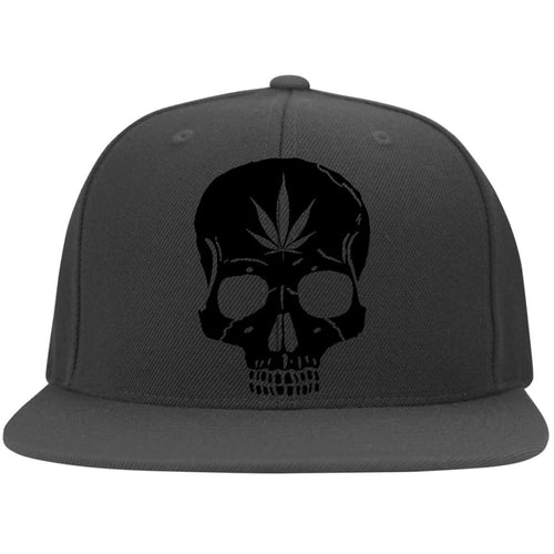 Cannabis Skull Flat Bill Flexfit Cap