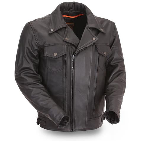 Men's Cruising Genuine Leather Jacket