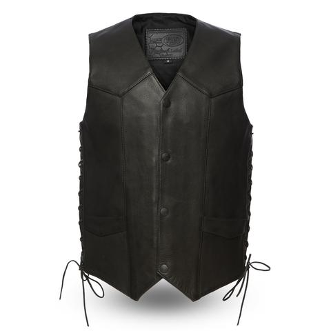 Men's Gothic Genuine Leather Vest
