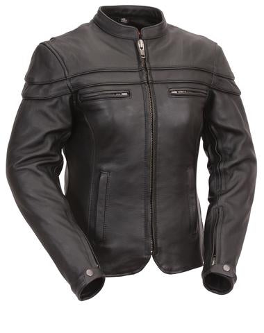 Ladies Cruising Genuine Leather Jacket