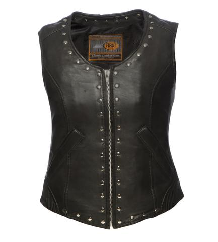 Ladies Leather Gothic Vest