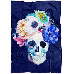 Blooming Skull Blanket