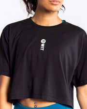 WIT Vertical Logo Crop Tee