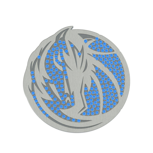 DALLAS MAVERICKS ROYAL HORSEHEAD BLING PIN