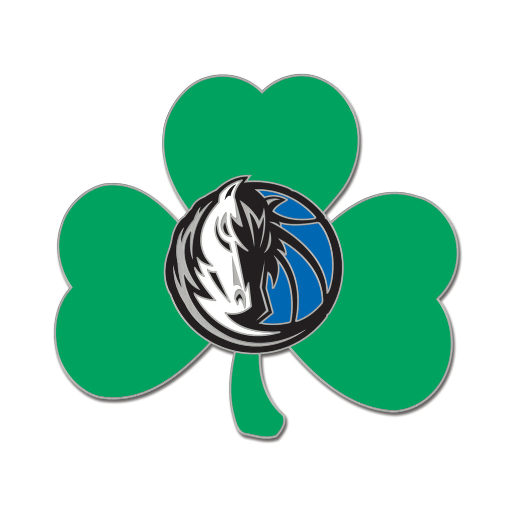 DALLAS MAVERICKS SHAMROCK HORSEHEAD PIN