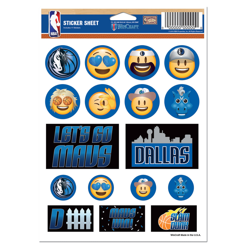 DALLAS MAVERICKS EMOJI TATTOO SHEET