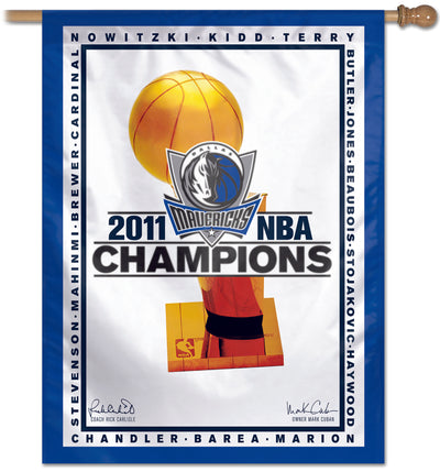 DALLAS MAVERICKS REP CHAMP BANNER