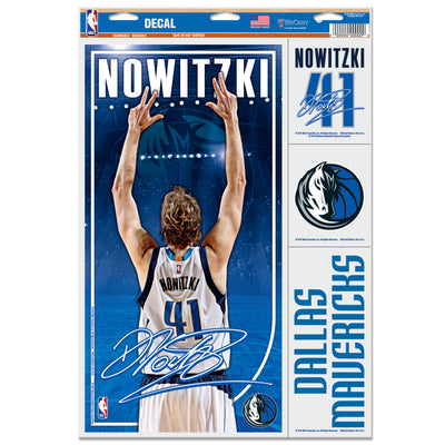 DALLAS MAVERICKS DIRK CELEBRATION DECAL SHEET
