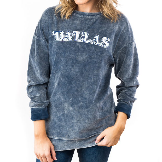 DALLAS MAVERICKS GAMEDAY COUTURE WOMEN'S HWC NAVY PULLOVER