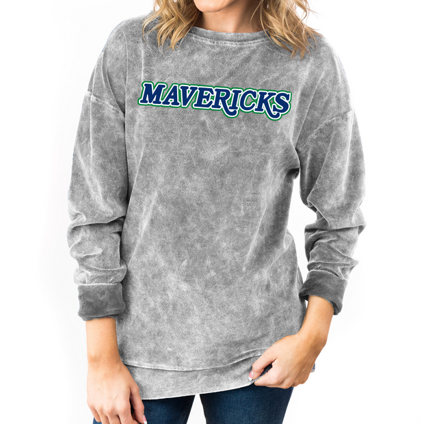 DALLAS MAVERICKS GAMEDAY COUTURE WOMEN'S HWC GRAY PULLOVER