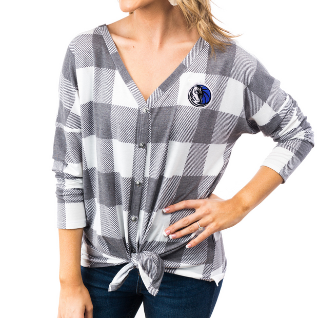 DALLAS MAVERICKS GAMEDAY COUTURE WOMEN'S TIE TOP