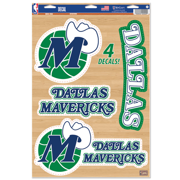 DALLAS MAVERICKS HWC 4 PK LOGO DECAL SHEET