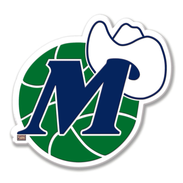 DALLAS MAVERICKS HWC M-HAT LOGO MAGNET