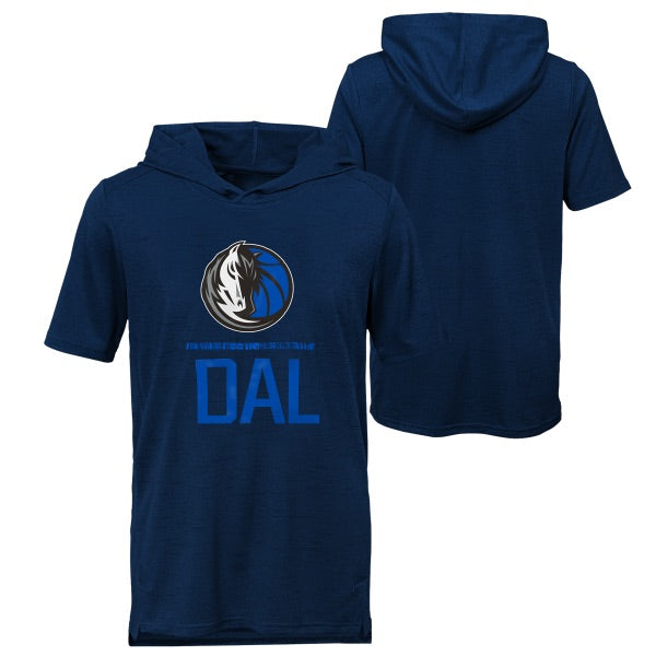 DALLAS MAVERICKS KIDS STATIC PERFORMANCE HOODED TOP