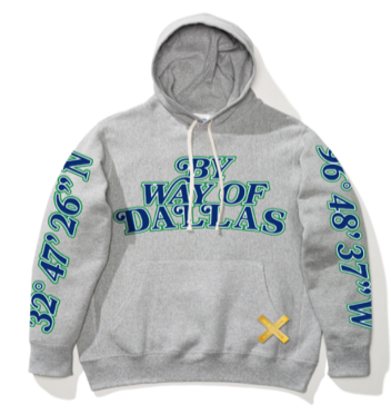 DALLAS MAVERICKS x BY WAY OF DALLAS HARDWOOD CLASSIC GRAY HOODIE