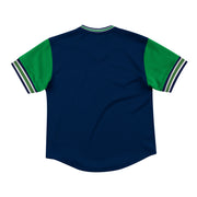 DALLAS MAVERICKS HARDWOOD CLASSIC TOP PROSPECT MESH V-NECK NAVY TEE