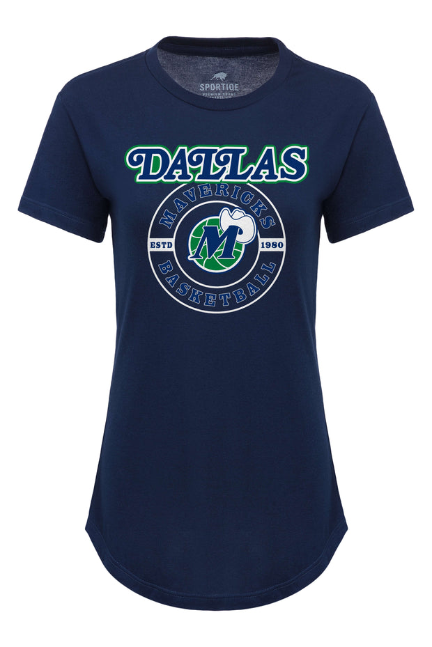 DALLAS MAVERICKS SPORTIQE HARDWOOD CLASSIC MURPHY PHEOBE MIDNIGHT NAVY TEE