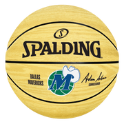 DALLAS MAVERICKS SPALDING HARDWOOD CLASSIC WOODGRAIN BASKETBALL