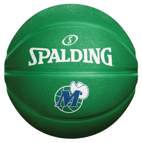 DALLAS MAVERICKS SPALDING HARDWOOD CLASSIC 40TH ANNIVERSARY GREEN BASKETBALL