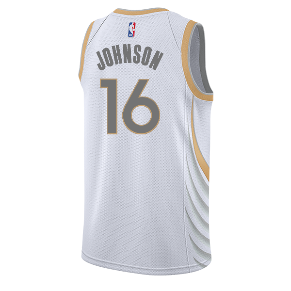 DALLAS MAVERICKS NIKE JAMES JOHNSON 20-21 CITY EDITION SWINGMAN JERSEY